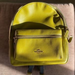 NWT Auth. Coach Olive Leather Green Backpack